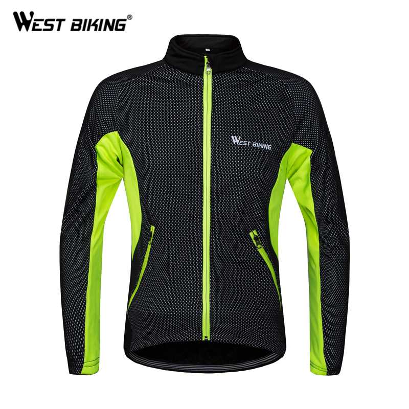 WEST BIKING Thermal Cycling Jacket Winter Warm Up Velvet Bicycle Jacket Windproof Waterproof Soft Shell Raincoat MTB Bike Jersey цена