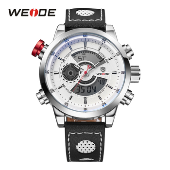 WEIDE Mens Design Fashion Quality Waterproof Casual Chronograph Digital Quartz Wrist Watch  Relogio Masculino wristwatches Gift weide wh 1009 br stainless steel analog led digital quartz waterproof wrist watch black red