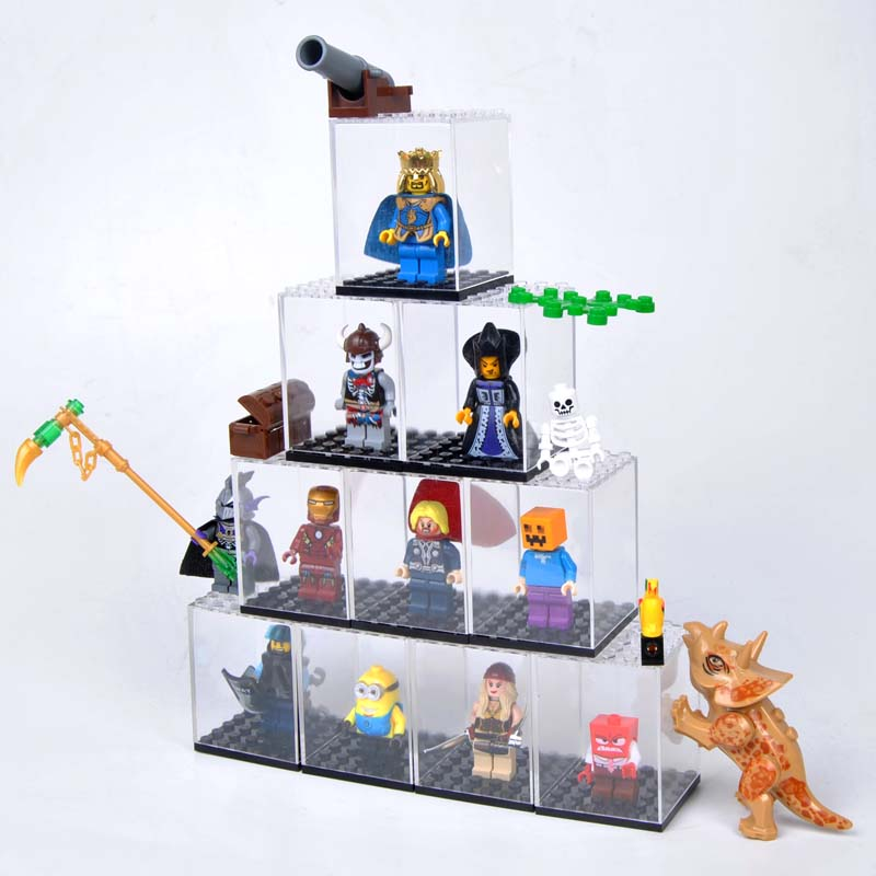 Image 3 - Display case / dust proof / Assembly box case shop window base for legoes acrylic blocks display plastic case-in Blocks from Toys & Hobbies