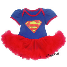 b996dfd8b Infant Baby Girls Clothes Supergirl Costume Newborn Blue Romper Jumpsuit  Infant Tutu Outfits for Baby 1
