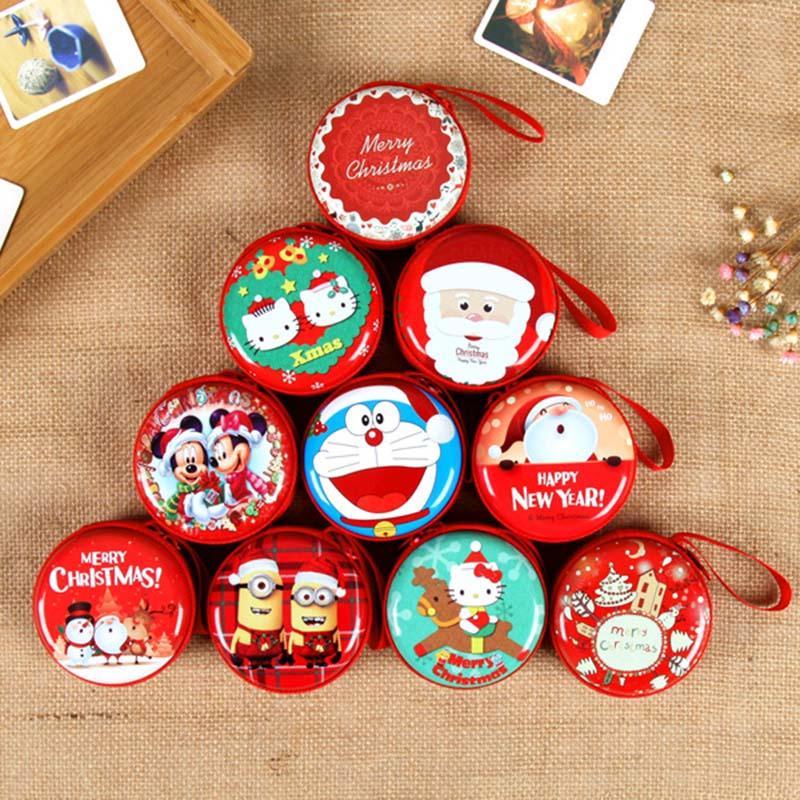 YIYOHI New Kawaii Mini Bag Cartoon Merry Christmas Coin Purse kids Girls Wallet Earphone Organizer Box Bags Christmas Gift