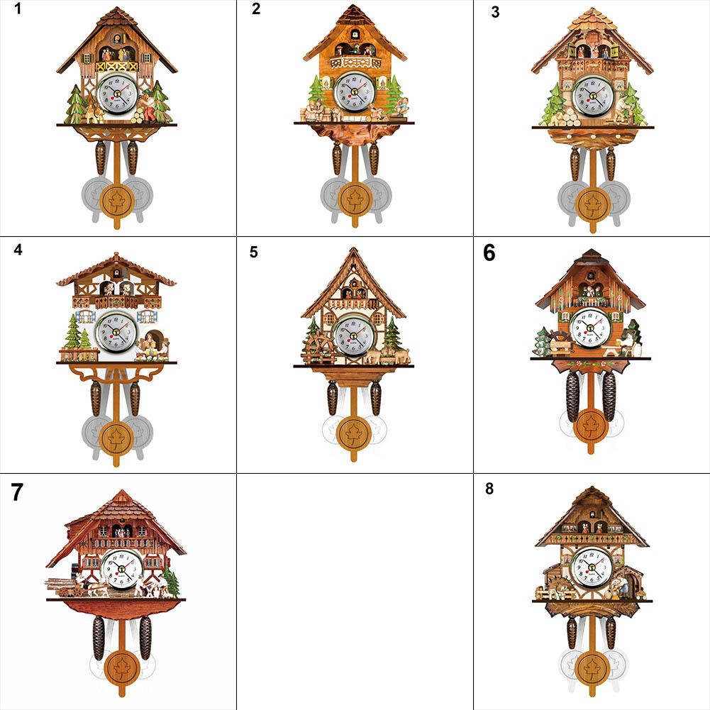 Antigo relógio de parede de madeira cuco pássaro tempo sino balanço alarme decoração da arte casa tb venda