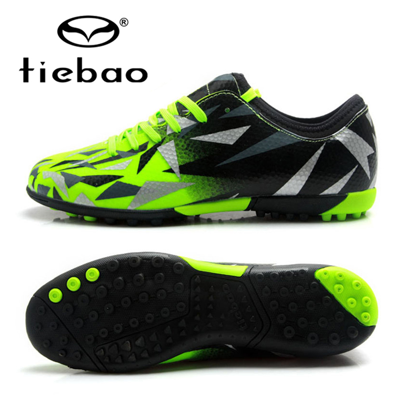TIEBAO Soccer Shoes TF Turf Soles Breathable Outdoor Sneakers For Men Football Training Boots Unisex Zapatos De Futbol health top soccer shoes kids football boots cleats futsal shoes adult child crushed breathable sport football shoes plus 36 45