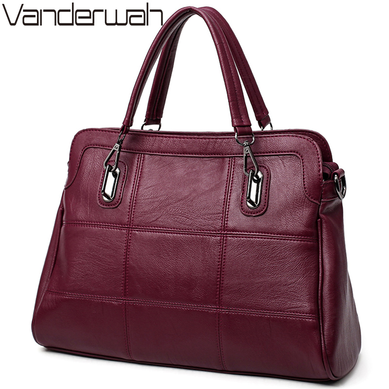 VANDERWAH HOT Leather bags handbags women famous brands casual tote women shoulder crossbody bags for women handbags sac a main tuladuo new lady shoulder bags women famous brands handbags female embroidery casual big crossbody bag tote for girls sac a main