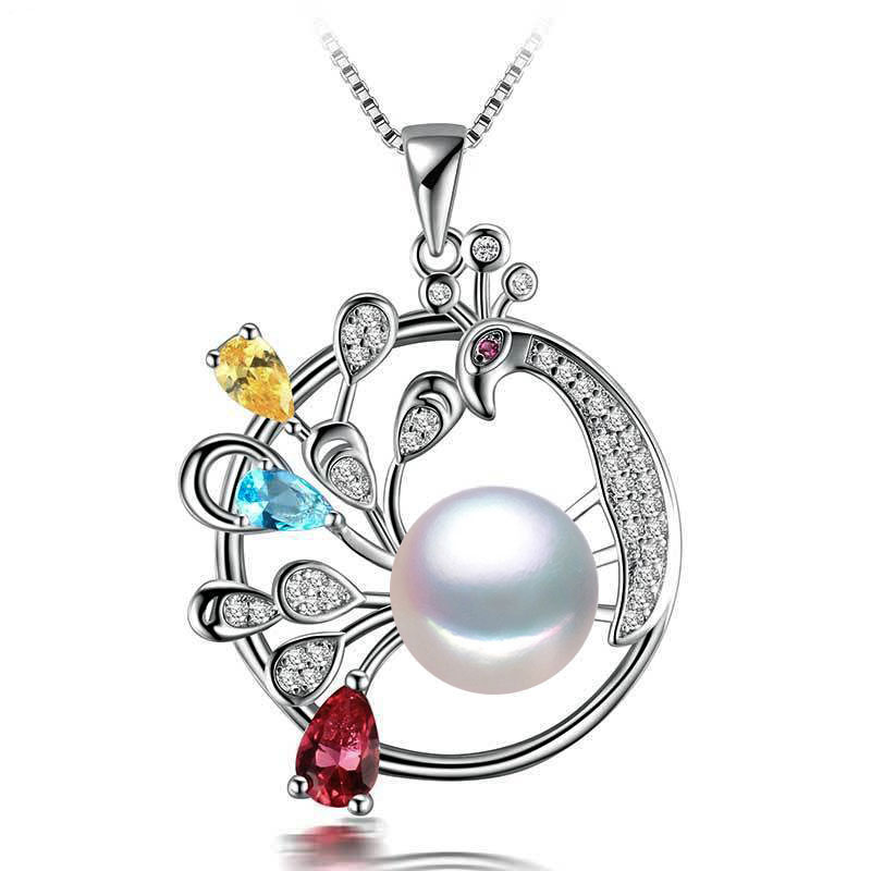 Luxury natural freshwater pearl pendant ,925 sterling