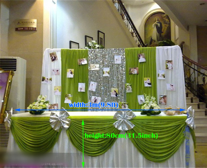 wedding supplies table skirts ice silk table cover decorative