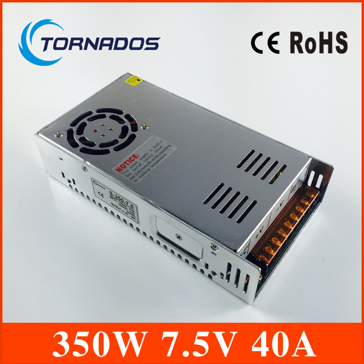 цена на 350W 7.5V 40A S-350-7.5 high quality Single Output Switching power supply for LED Strip light AC to DC CE ROHS approved