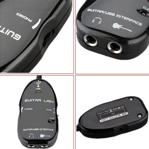 10X câble de guitare en gros Audio USB Interface lien câble adaptateur pour MAC/PC accessoires d'enregistrement pour les joueurs de guitare