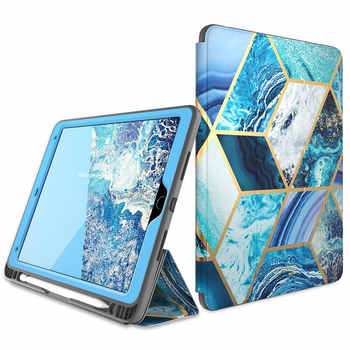 For ipad Air 3 Case iPad Pro 10.5 Case i-Blason Cosmo Marble Trifold Stand Case with Auto Sleep/Wake & Built-in Screen Protector