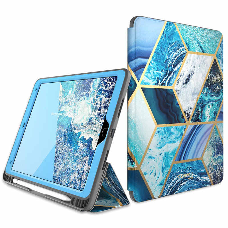 For Ipad Air 3 Case Ipad Pro 10 5 Case I Blason Cosmo Marble Trifold Stand Case With Auto Sleep Wake Built In Screen Protector Tablets E Books Case Aliexpress