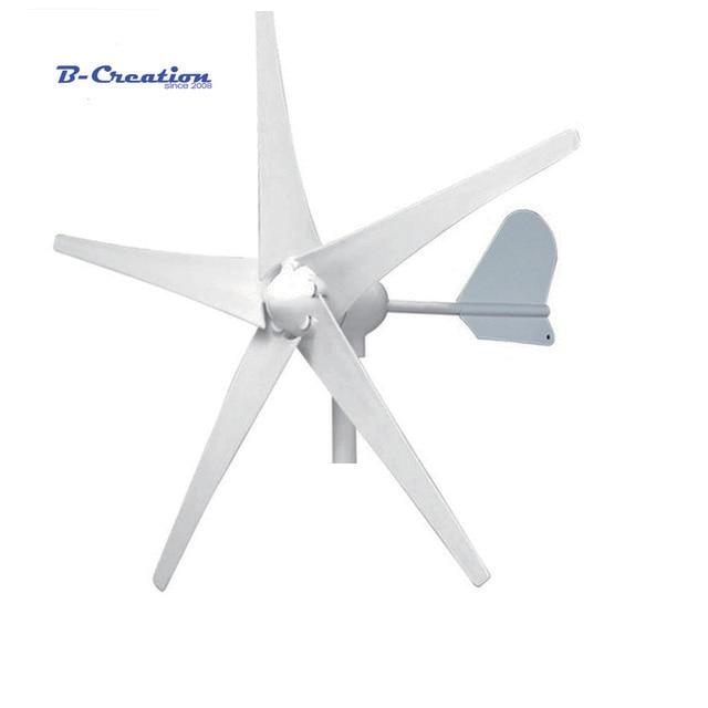 Livraison gratuite AC12V/24 V/47 V 500 W éolienne générateur petit moulin à vent avec contrôleur étanche pour un usage domestique approbation CE RoHS