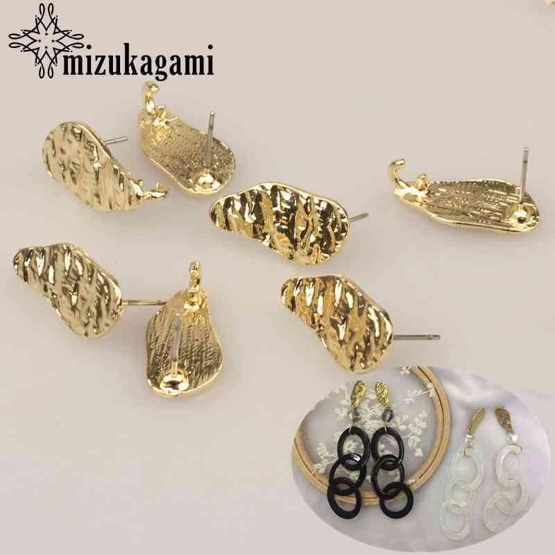 10*20mm 6pcs/lot Golden Zinc Alloy Geometric Irregularity Earrings Base Connectors Linker For DIY Earrings Jewelry Accessories
