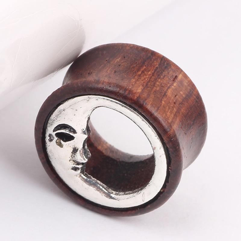 Ear Plugs Tunnels Flesh Moon Ear Tunnels Piercing Expanders font b Earring b font Gauges 8mm