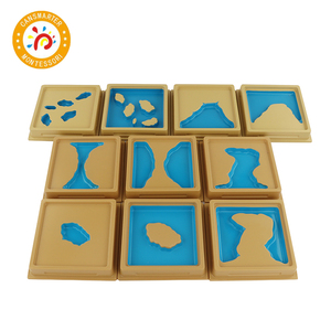 Монтессори материал обучения географии земли и воды формы лотки детские игрушки знания мира Обучающие пособия раннее образование