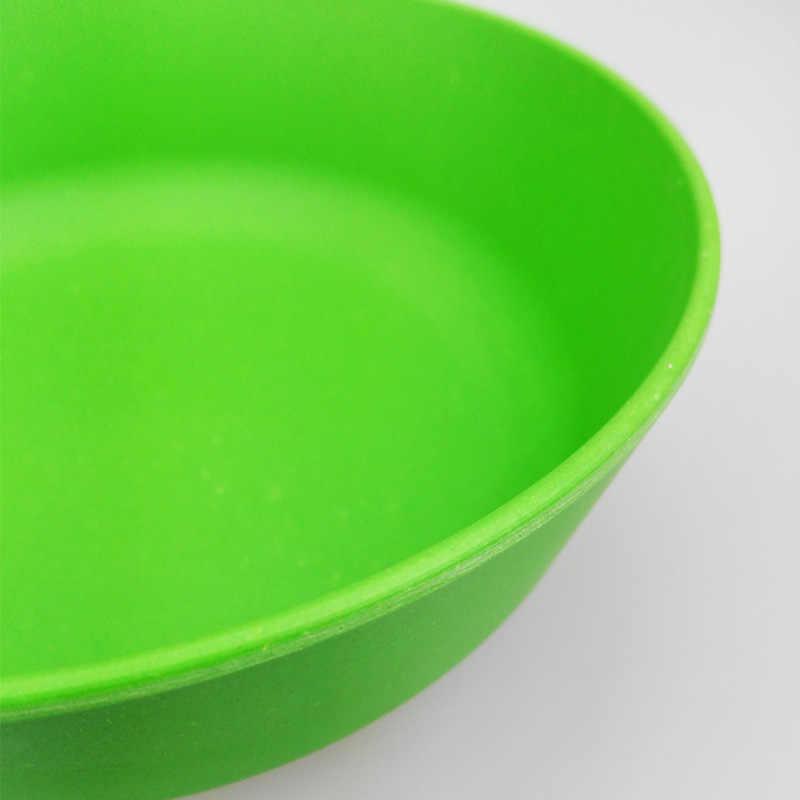 4 PCS China Conjunto Talheres Pratos Reutilizáveis Bambu Natural Da Cozinha Branco e Prato de Sopa Tigela Tigelas de Salada de Frutas