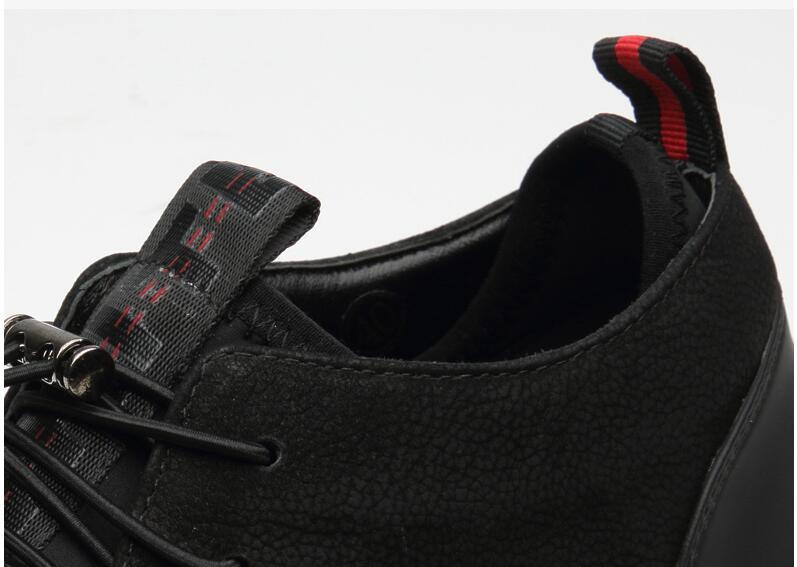 HTB1lztJKuSSBuNjy0Flq6zBpVXai Brand High quality all Black Men's leather casual shoes Fashion Sneakers winter keep warm with fur flats big size 45 46 LG-11
