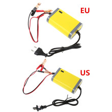 US EU Plug Car font b Battery b font Charger 12v 2A Fully automatic Car motorcycle