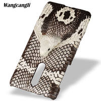 wangcangli Brand genuine snake skin phone case For Nokia 8 phone back cover protective case leather phone case