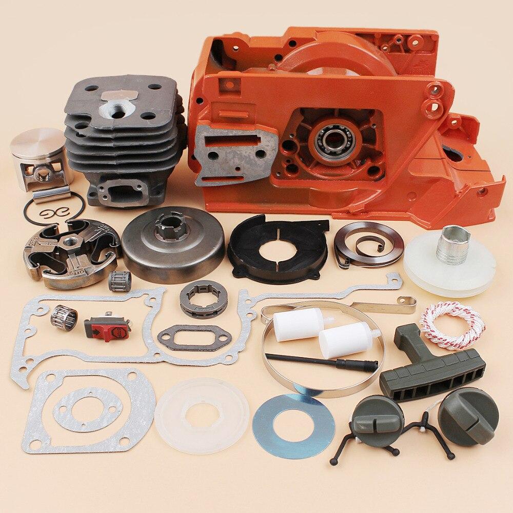 Crankcase Cylinder Piston Clutch Drum Engine Motor Kit For Husqvarna 272 268 61 Gasoline Chainsaw Spares Parts 501779901 все цены