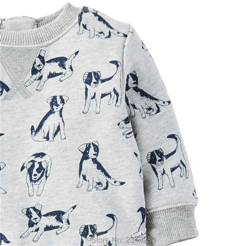 T Shirts For Baby Boys T-shirts Clothes Sweater Child Tops Long Sleeve Dog Print Children Tees Clothes Tops Clothing Bobo Choses04