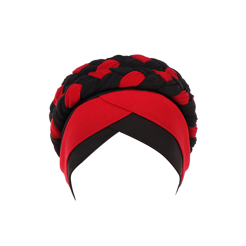 2018 Fashion New Women Hairbraid India Africa Muslim Stretch Turban Cotton Hair Loss Head Scarf Wrap Cap Casual Hot Sale #L26 (9)