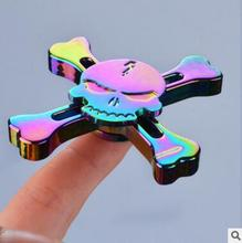 Hand Spinner Rainbow Legering Finger Gyro Tri Fidget Spinner Rose Gold Metal Blue Wheel Fly Flower extrem Roze UFO Aluminium Toy
