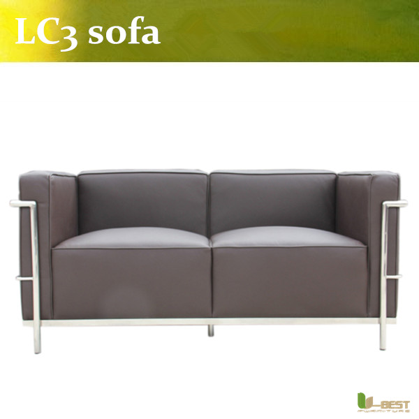 U-BEST le corbusier lc3 2 seat sofa in real leather,Corbusier LC3 Grand Modele 2 seater, kitchen pendants Sofa corporate real estate management in tanzania