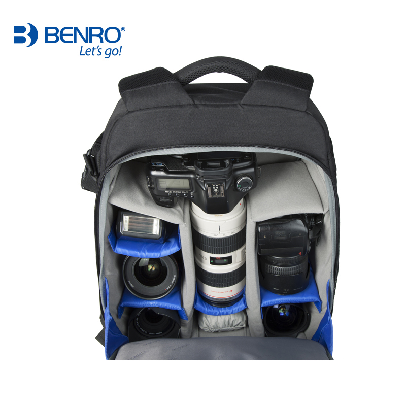 Benro Hiker 200 DSLR Camera Bag High Quality Backpack Professional Anti-theft Outdoor Men Women Backpack For Canon/Nikon camera lowepro protactic 450 aw backpack rain professional slr for two cameras bag shoulder camera bag dslr 15 inch laptop