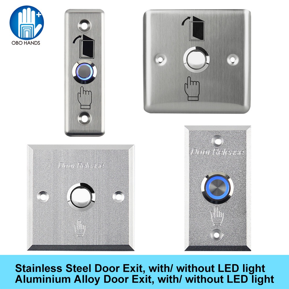 Touch Stainless Steel Door Exit Button Push Button Switch Touch Panel Of Access Control System With NO/COM