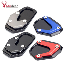 Motorcycle CNC Kickstand Foot Side Stand Extension Pad Support Plate Enlarge Stand For BMW R1200RT R1200 RT R 1200RT 2004-2018 цена