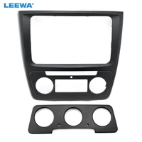 LEEWA Car Refitting DVD Panel Dash Kit Fascia Radio Audio Frame for Skoda Yeti Stereo Frame Installation Kit #CA1887