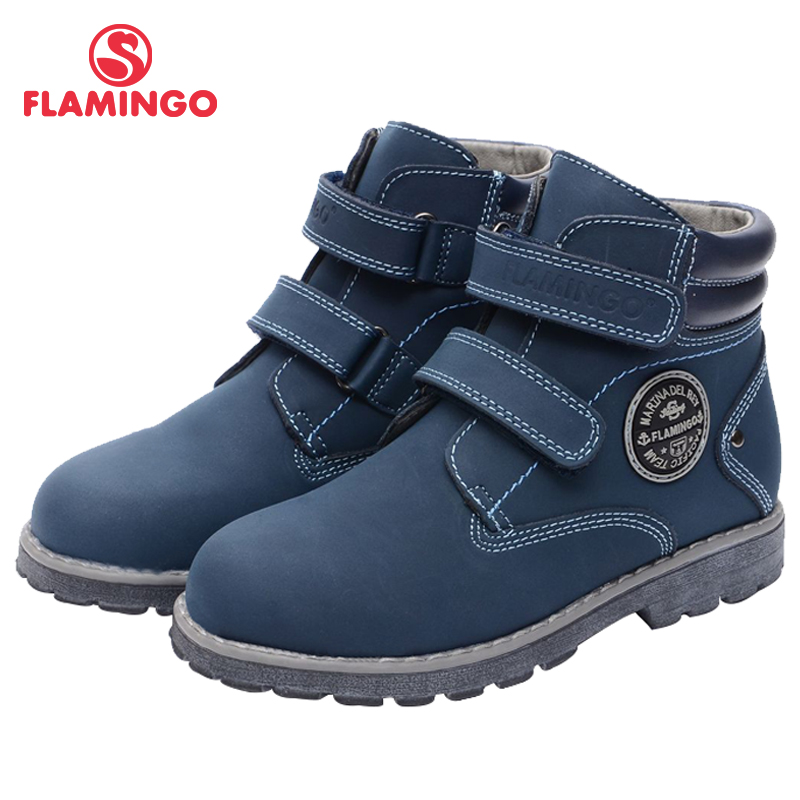 FLAMINGO Brand High Quality Anti-slip Felt Warm Autumn Fashion Kids Boots Shoes For Boys Size 28-33 Free Shipping 72B-XB4873
