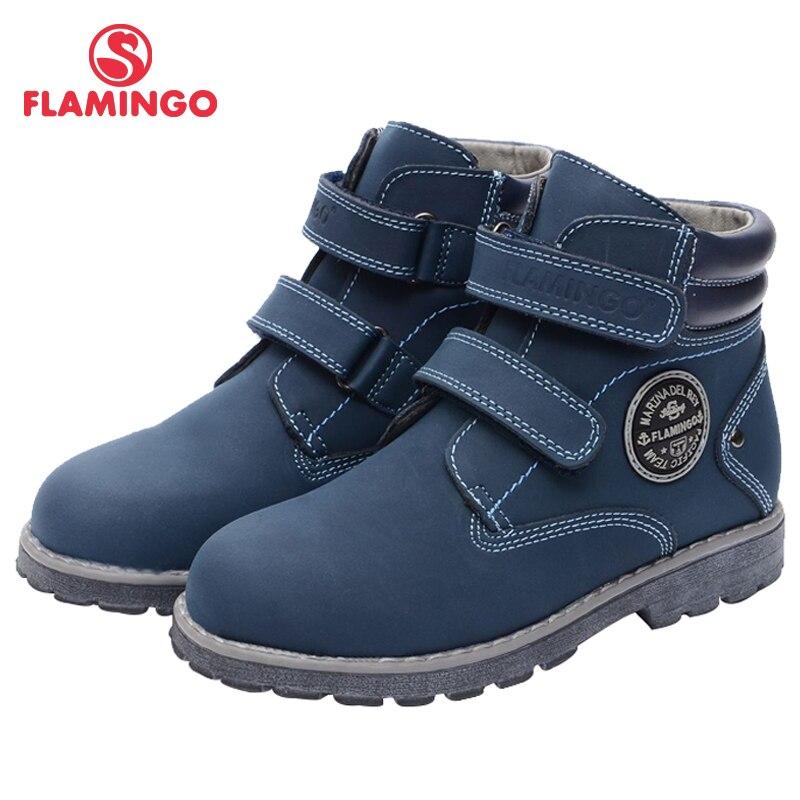 FLAMINGO Brand High Quality Anti-slip Felt Warm Autumn Fashion Kids Boots Shoes For Boys Size 28-33 Free Shipping 72B-XB4873