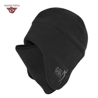 Custom Winter Fashion Warm Fleece Hats Adult Windproof Mask Outdoor Cycling Snowboard Cap Embroidery LOGO Solid