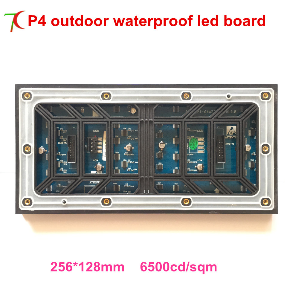 2018 Cheapest P4 Outdoor SMD1921 Normal Brightness 8scan Full Color Led Module Use ,256*128mm,5500cd