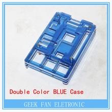 Latest Raspberry Pi 2 Model B+ B Plus BULE Case Cover Shell Enclosure Box Transparent double color