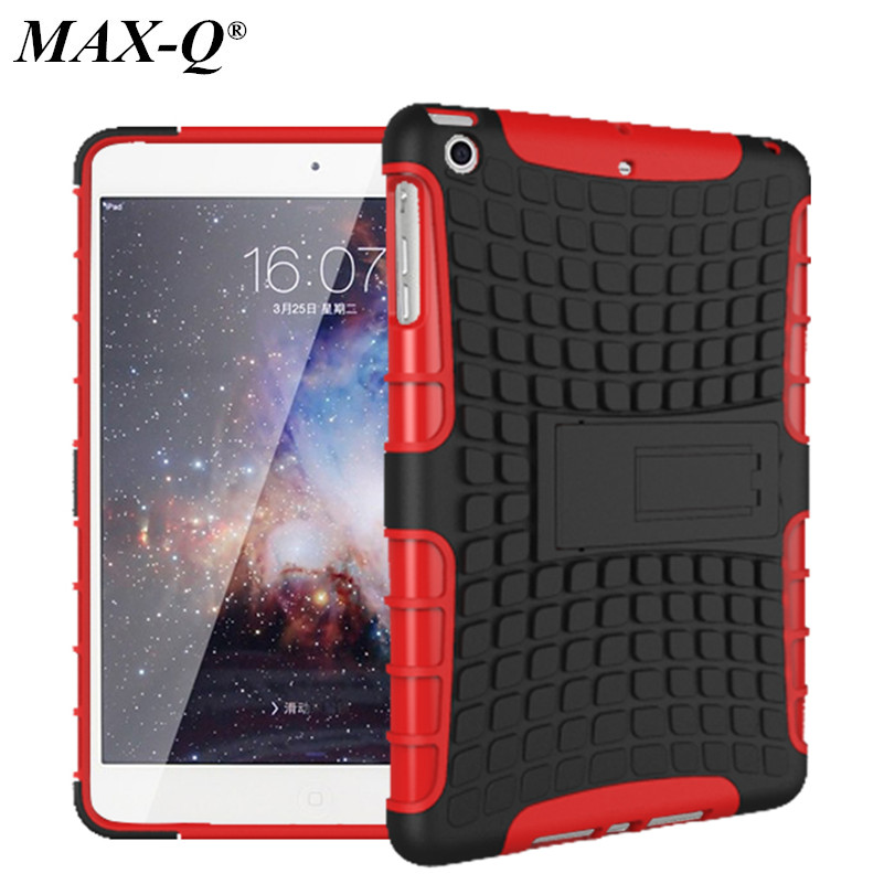 MAX-Q 2 in 1 Durable ShockProof Hybrid Heavy Duty Stand Case Cover For Apple iPad Mini 1 2 3 Fashion phone bag 8 Colors