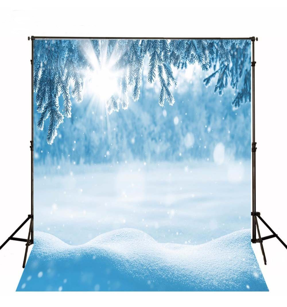 Blue Frozen Ice Snow Winter Scene Sun photo backdrop Vinyl cloth High quality Computer printed party Backgrounds paper sun white cloud colour colorful photography backgrounds vinyl cloth computer printed birthday photo backdrop