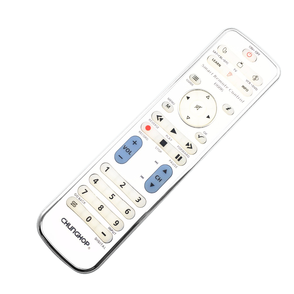 CHUNGHOP Combinational remote control learn remote for TV SAT DVD CBL DVB-T AUX universal controller with code U606 BACKLIGHT