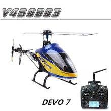 Walkera V450D03 hélicoptère RC 3D sans mouche 6 axes Gyro avec émetteur DEVO 7 RTF 2.4 GHz