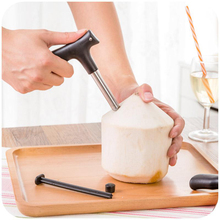 Young Coconut Opening Tools -(Punch Tap) Knife Opener for Raw Coco Water Juice stainless steel coconut opener Makes Straw Hole