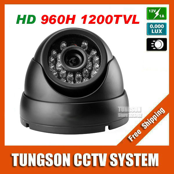 ФОТО Sony CCD 960H Effio 1200TVL Surveillance 24Infrared LED Indoor Vandal-proof Black Metal Mini Dome Home Security CCTV Camera