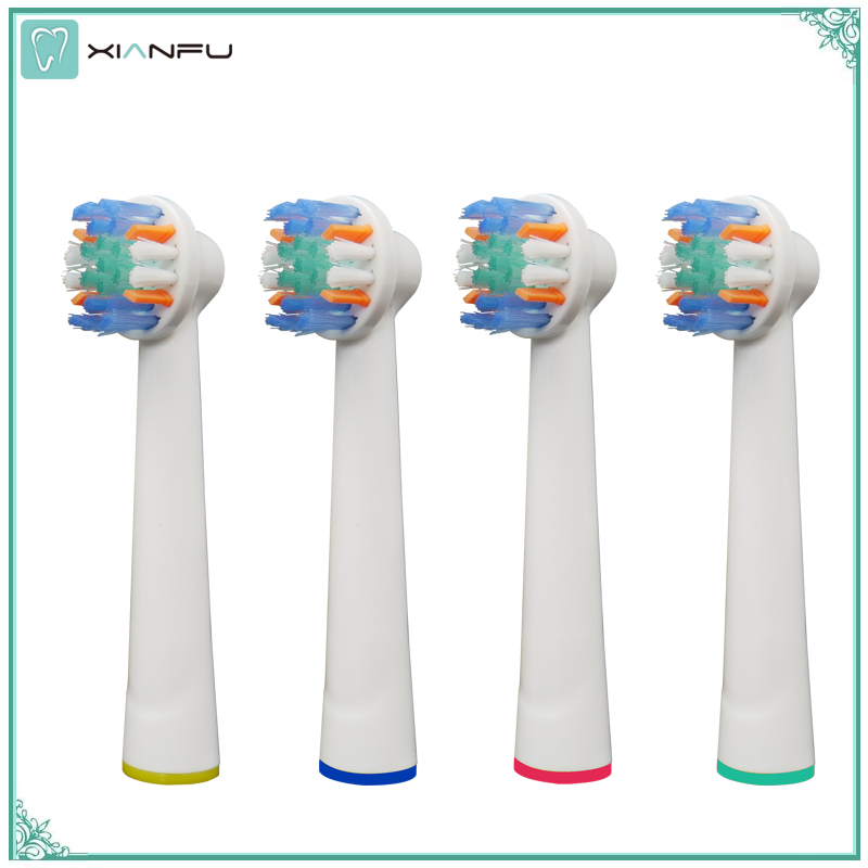 4PCS Electric Toothbrush Replacement Brush Heads Refill Oral b Pro 1000 Pro 3000 Pro 5000 Pro 7000 Vitality Floss Action heads womanizer pro