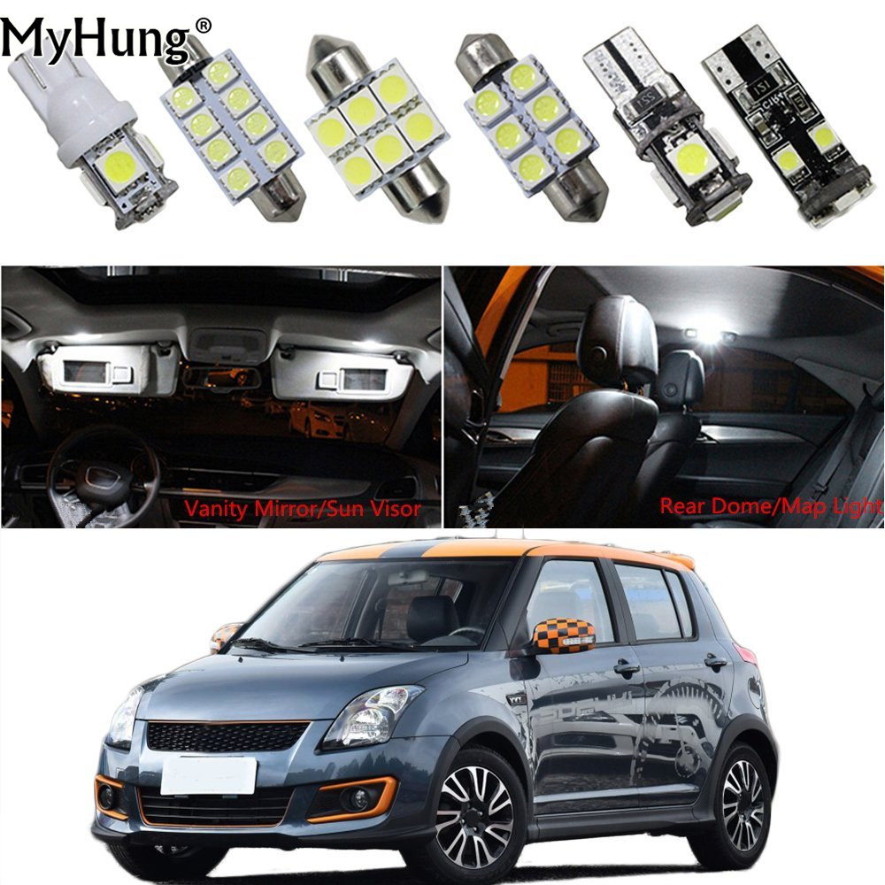 For SUZUKI SWIFT Jimny Alto Celerio Car Led Headlight Replacement Bulbs Dome Map Lamp Light Bright White 3PCS Car Styling