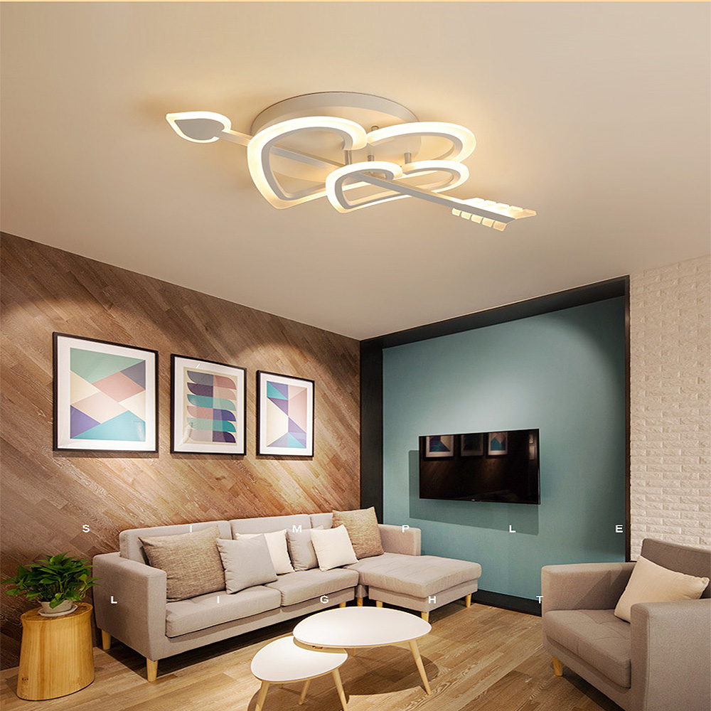 Modern Led pendant light At first sight bedroom wedding room simple ceiling lamp Indoor Lighting RC Dimmable Pendant Lamps|Pendant Lights| |  - title=