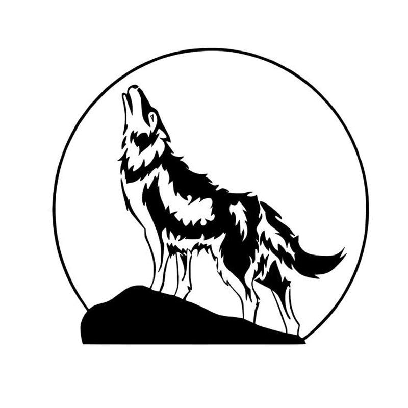 картинка для выжигания волк воет на луну пряди