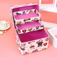 The New Cosmetic Bag Portable Large Capacity Receiving Bag Wash Bag Folding Multi function Simple Multi layer High Quality