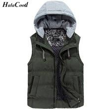 New Men's Jacket Sleeveless veste homme Winter Fashion Casual Coats Male Hooded Cotton-Padded Men's Vest Thickening Waistcoat