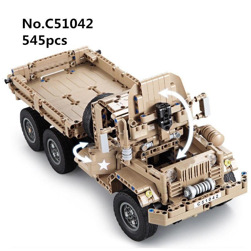 545 pièces télécommande RC bloc de construction technique militaire réservoir camion série arme armée bricolage modèle jouets pour enfants bébé cadeaux