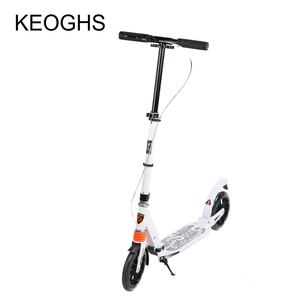 Image 2 - adult children aluminium scooter foldable PU 2wheels bodybuilding shock absorption urban campus transportation